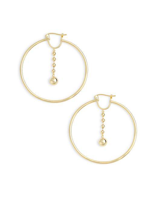 Argento Vivo - Metallic Beaded Drop Hoop Earrings - Lyst
