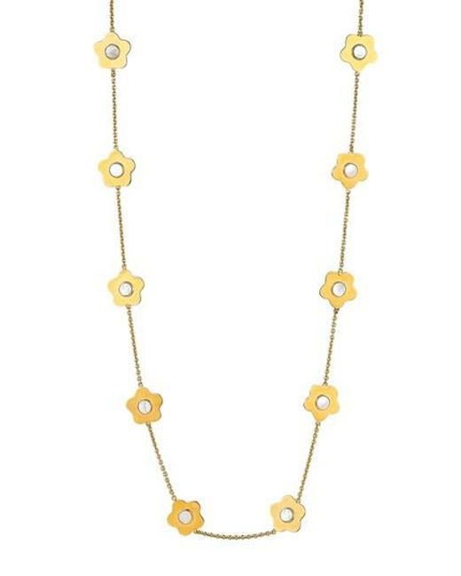 Asha - Metallic Lulu Mother-of-pearl Station Necklace - Lyst