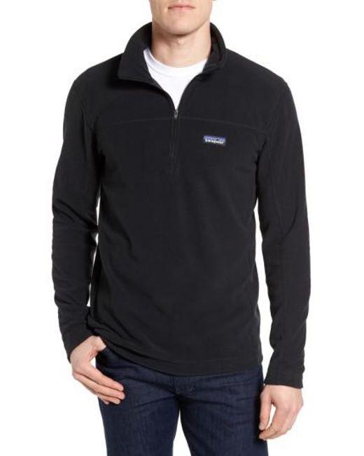 Patagonia - Black Fleece Pullover for Men - Lyst