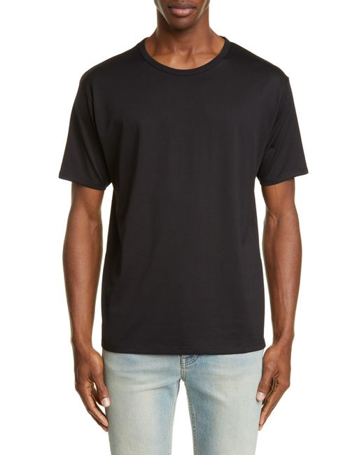 Acne Black Niagara Crewneck T-shirt for men