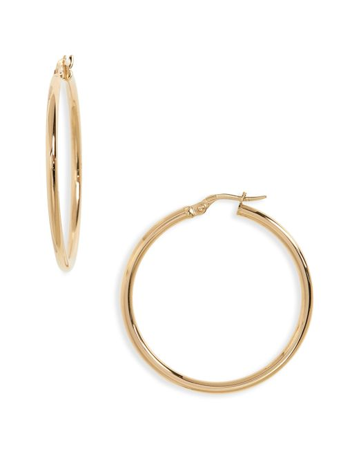 Roberto Coin - Metallic 35mm Gold Hoop Earrings - Lyst
