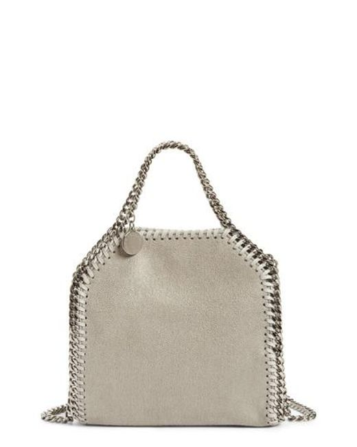 Stella McCartney - Gray 'tiny Falabella' Faux Leather Crossbody Bag - Lyst