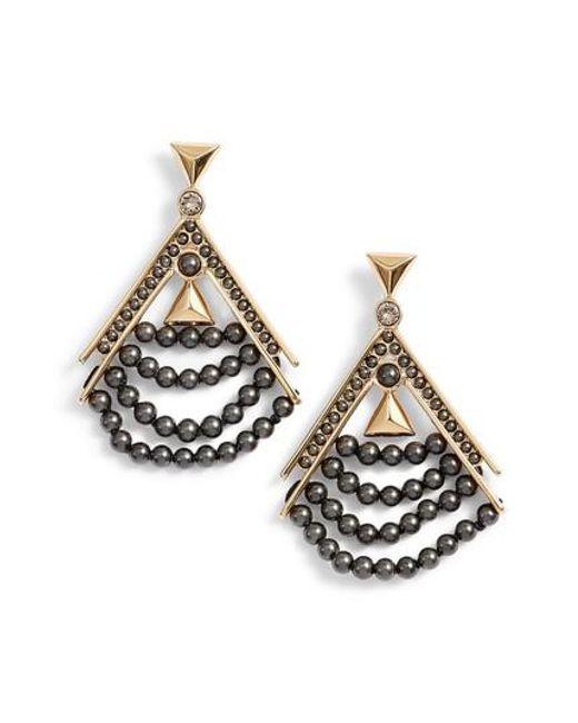 Givenchy | Metallic Beaded Drop Earrings | Lyst
