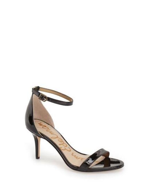 Sam Edelman | Black 'patti' Ankle Strap Sandal | Lyst