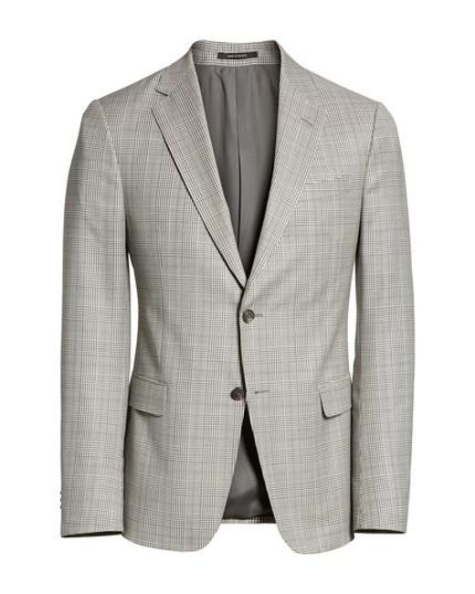 Z Zegna   Gray Classic Fit Plaid Wool Sport Coat for Men   Lyst