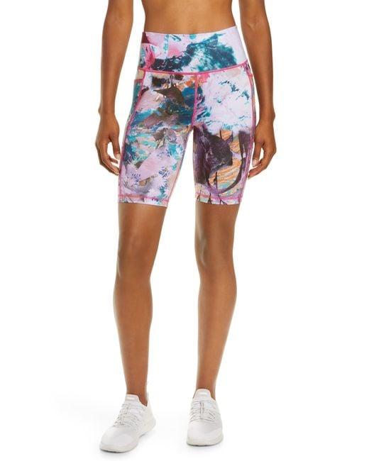 Sweaty Betty Multicolor Super Sculpt High Waist Pocket Bike Shorts