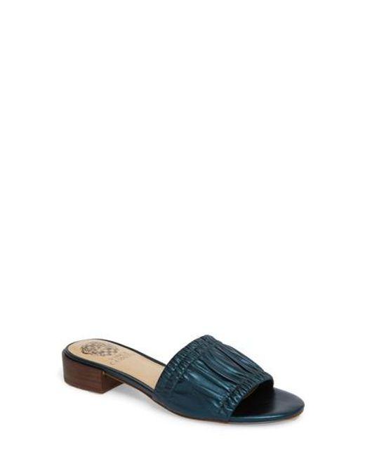 Vince Camuto - Multicolor Nanita Pleated Slide Sandal - Lyst