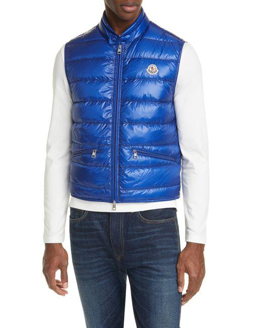 Moncler Blue Gui Down Puffer Vest for men