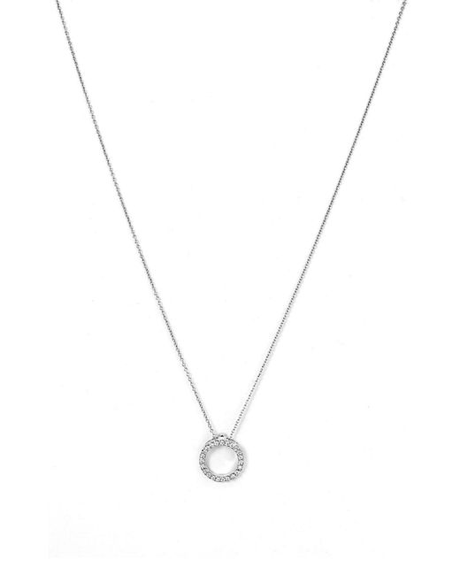 Roberto Coin - Metallic 'tiny Treasures' Small Diamond Circle Pendant Necklace - Lyst