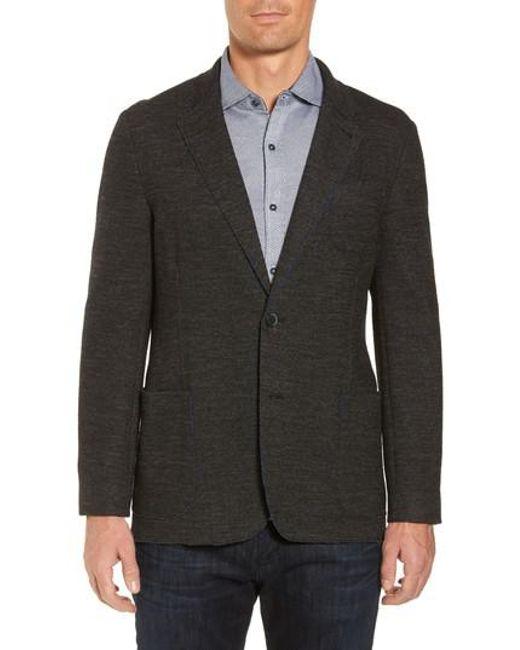Bugatchi | Gray Raw Edge Cotton Blend Blazer for Men | Lyst