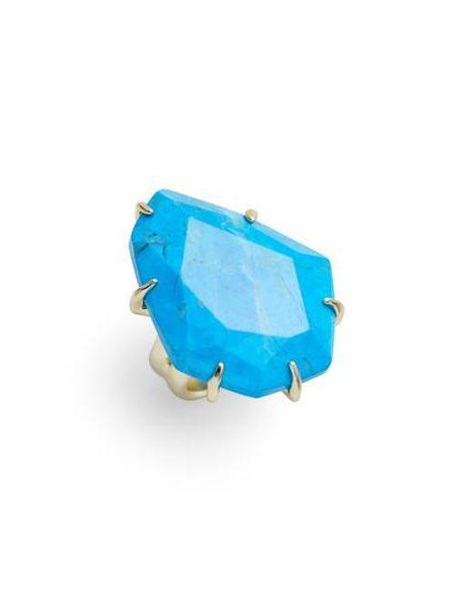Kendra Scott - Blue Megan Stone Ring - Lyst
