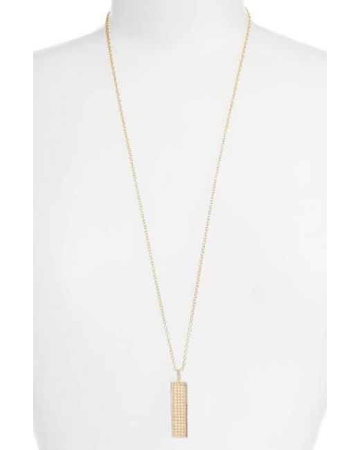 Anna Beck   Metallic Long Bar Pendant Necklace   Lyst