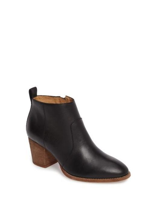 Madewell | Black Brenner Bootie | Lyst