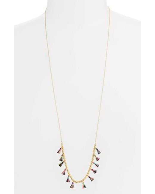 Gorjana - White Havana Tassel Adjustable Necklace - Lyst