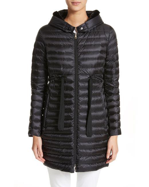 Moncler - Multicolor Barbel Hooded Down Coat With Genuine Mink Fur Trim - Lyst
