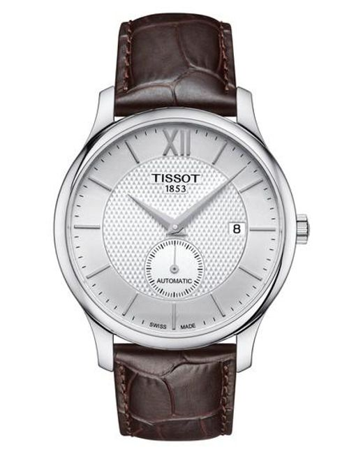 Tissot - Metallic Tradition Automatic Embossed Leather Strap Watch for Men - Lyst