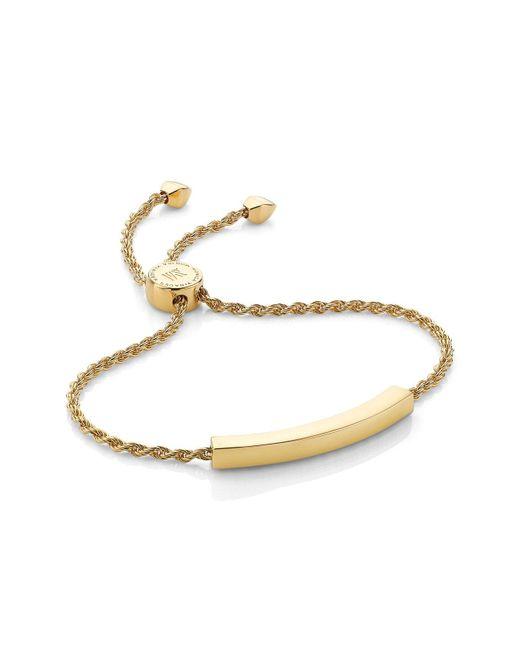 Monica Vinader - Metallic 'linear' Friendship Chain Bracelet - Lyst