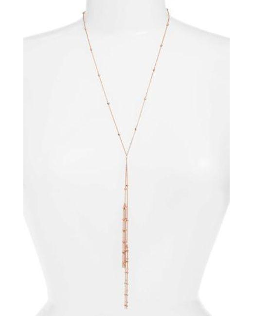 Argento Vivo   Metallic Tassel Y-necklace   Lyst