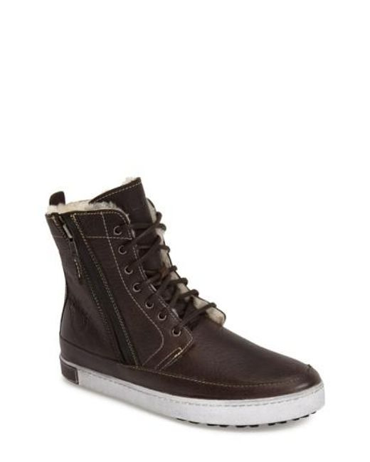 Blackstone - Brown 'gm05' High Top Sneaker for Men - Lyst