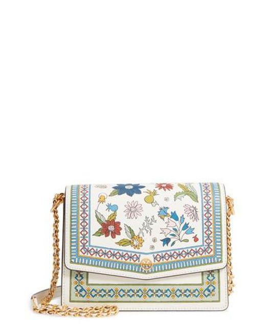 Tory Burch - Blue Robinson Floral Print Shoulder Bag - - Lyst