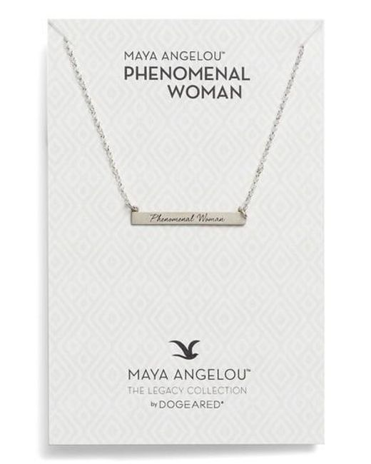 Dogeared | Metallic Legacy Collection - Phenomenal Women Bar Necklace | Lyst