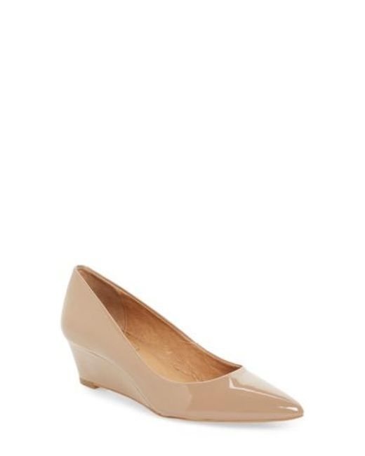 Corso Como | Natural Nelly Pointy Toe Wedge Pump | Lyst