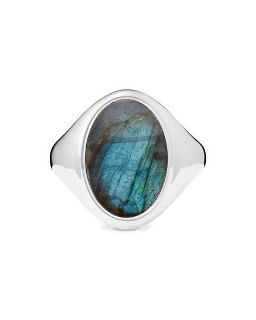 Shinola   Metallic Statement Labradorite Signet Ring   Lyst