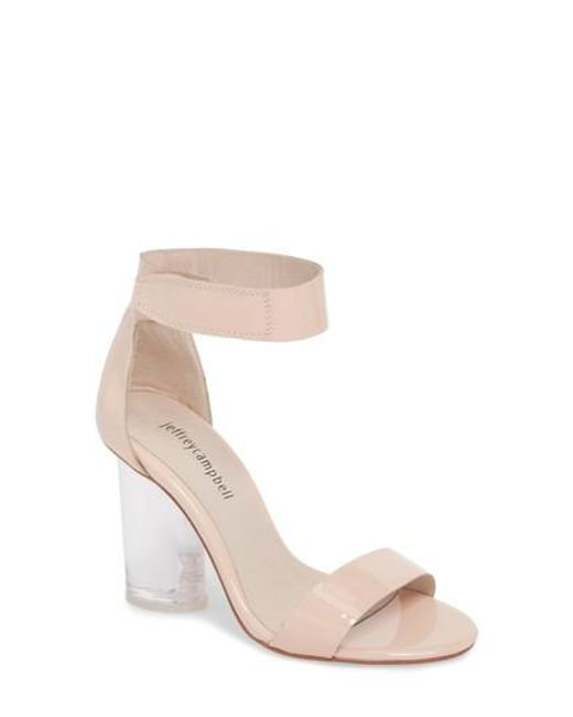 Jeffrey Campbell Women's Alessa Clear Heel Sandal LwGh4SjHx