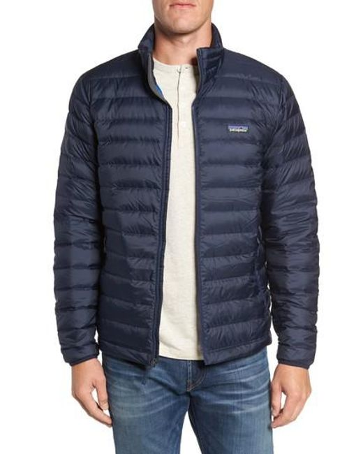 Patagonia - Blue Water Repellent Down Jacket for Men - Lyst