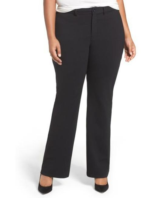 NYDJ   Black Isabella Stretch Trousers   Lyst