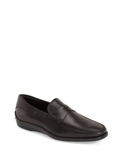 Tod's | Black 'quinn' Penny Loafer for Men | Lyst