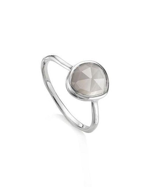 Monica Vinader   Metallic Siren Semiprecious Stone Stacking Ring   Lyst