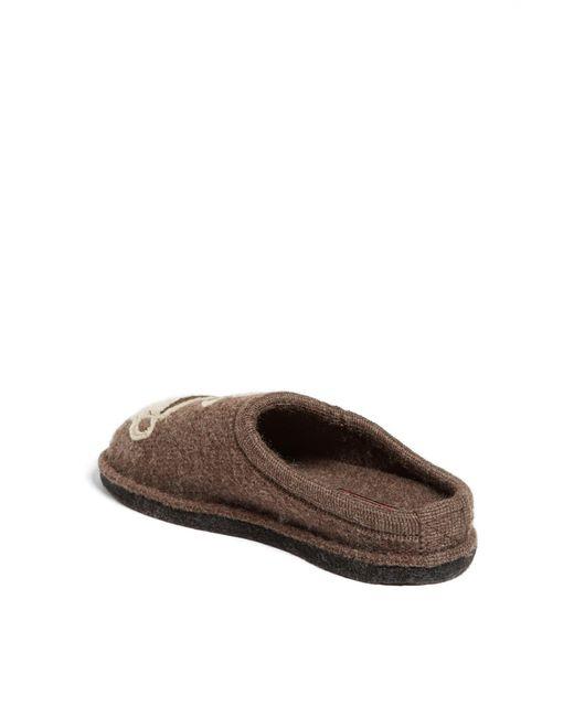 Haflinger Brown 'coffee' Slipper