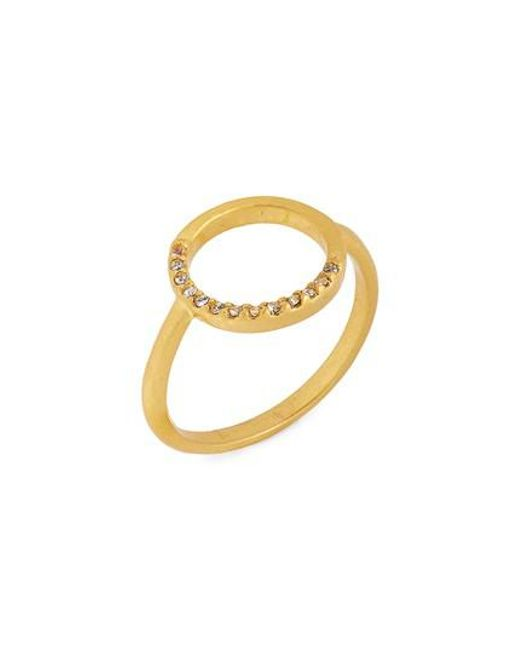 Madewell - Metallic Luster Circle Pave Ring - Lyst