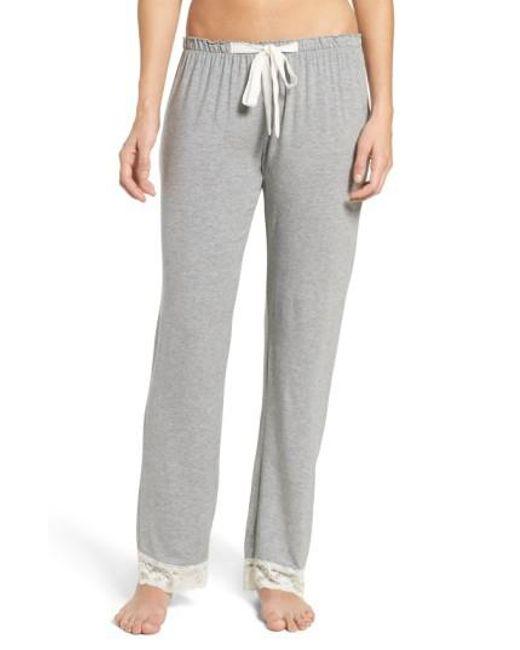 Flora Nikrooz | Gray Snuggle Lounge Pants | Lyst