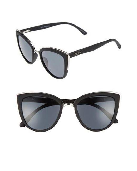 Quay - Black 'my Girl' 50mm Cat Eye Sunglasses - Lyst