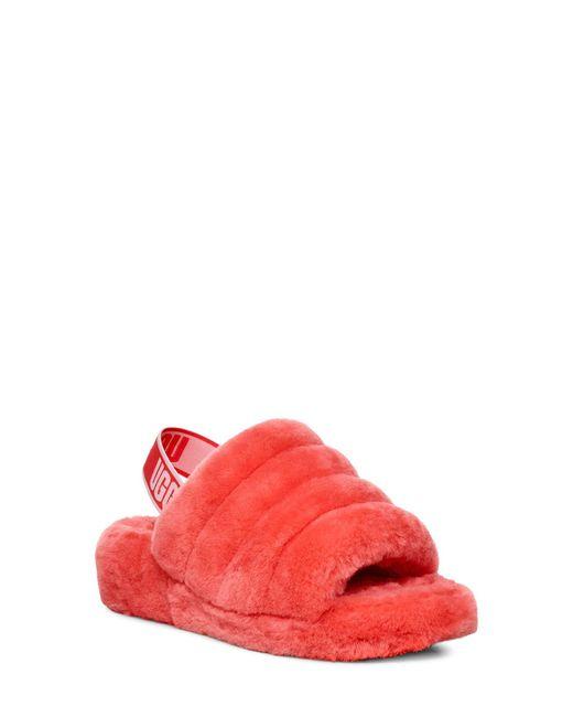 Ugg Pink Fluff Yeah Slide