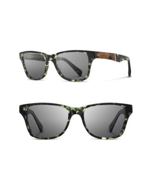 Shwood - Gray 'canby' 54mm Acetate & Wood Sunglasses - Darkforest/ Elm/ Grey for Men - Lyst
