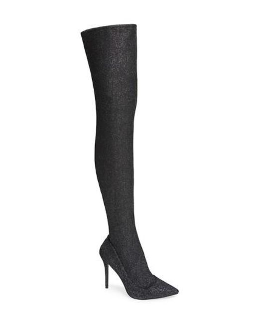 TOPSHOP | Metallic Bellini Stiletto Over The Knee Boot | Lyst