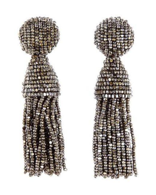 Oscar de la Renta | Multicolor 'classic Short' Tassel Drop Earrings | Lyst