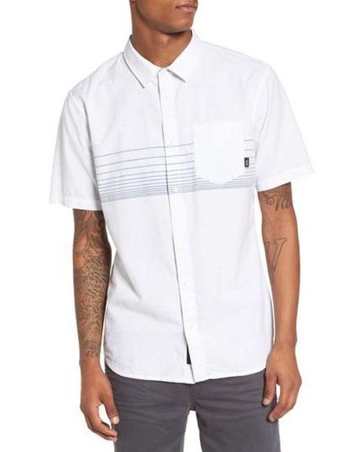Vans - White Gillis Woven Shirt for Men - Lyst