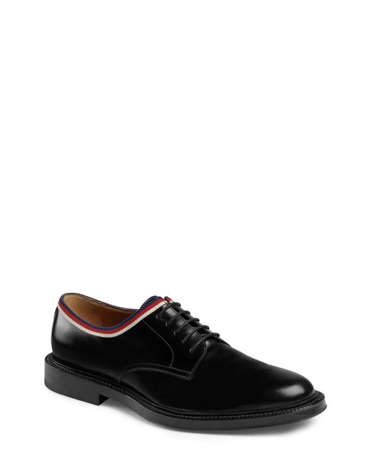 Gucci - Black Leather Derby for Men - Lyst