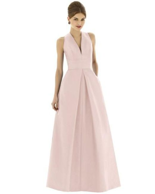 Alfred Sung | White Dupioni Full-Length A-line Dress | Lyst