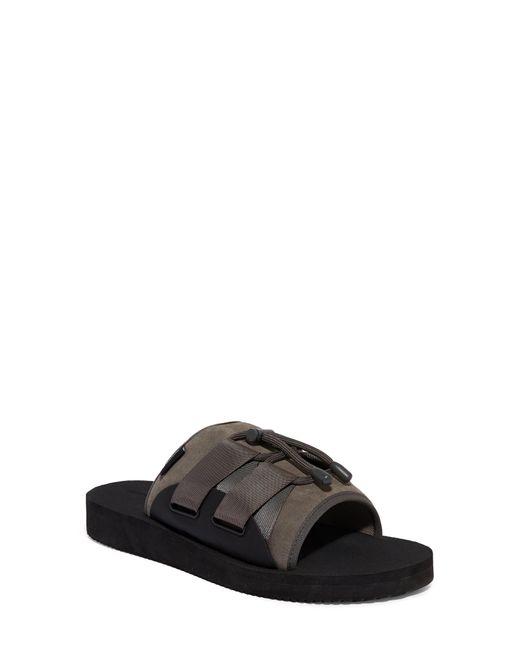 AllSaints Gray Ryder Slide Sandal for men