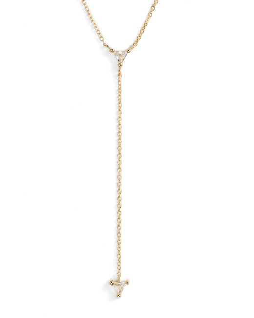 Jennifer Zeuner - Metallic Ava Lariat Necklace - Lyst