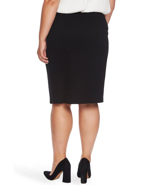 Vince Camuto Black Ponte Knit Skirt