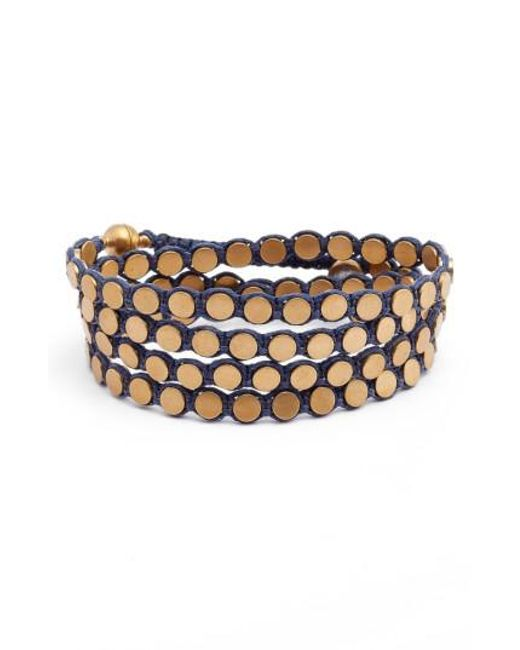 Serefina | Metallic Wrap Disk Bracelet | Lyst