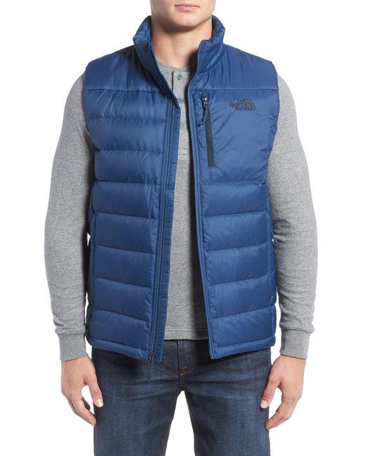 The North Face - Black 'aconcagua' Goose Down Vest for Men - Lyst