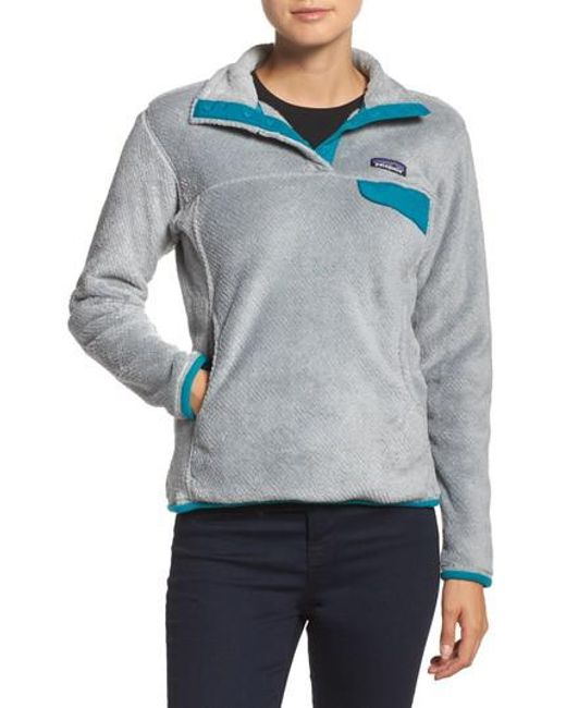Patagonia | Gray Re-tool Snap-t Fleece Pullover | Lyst