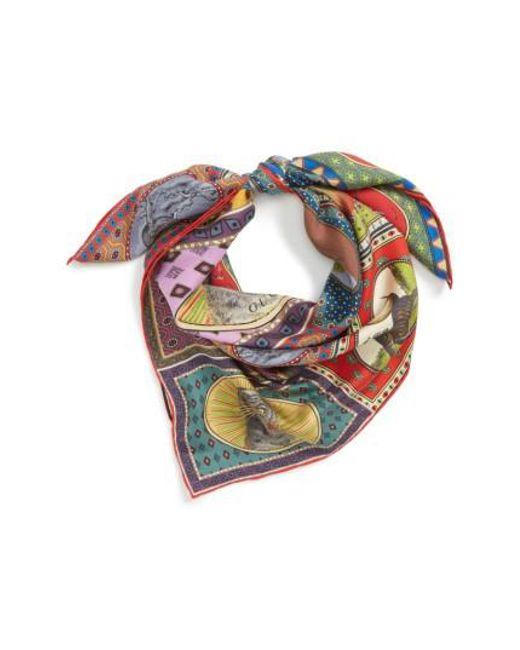 Tiger-print silk-twill scarf Gucci 4Xq25c